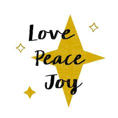SVG - Love Peace Joy - Christmas quote - wordart - Holiday Sentiment - North Star - Pallet Sign Design - Christmas Card