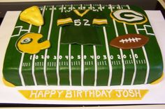 Packers This was a first time with and type of sports, all fondant Packers Cake, Go Packers, Packers Football, Green Bay Packers, Football Season, Dad Cake, Clay Matthews, Party Cakes, Cake Decorating
