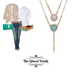 Enhance your power dressing with our 'Granitas Duo Style Necklace' !😎Shop now: https://www.theglocaltrunk.com #multichainnecklace #naturalstones #costumejewellery #necklace #mondaydress #powerdressing #semicasual #bosslady #onlineshopping #theglocaltrunk #tgt