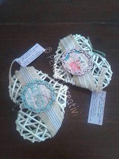 Paper woven hearts Mom & Dad- cuori intrecciati con cannucce di carta