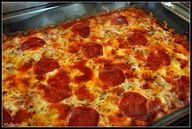 A Pizza Casserole that the kids will love on a sports practice night.