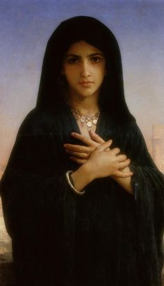 The Penitent (suggestibly Mary Magdalene) by  William-Adolphe Bouguereau