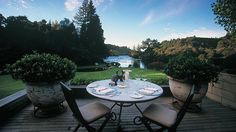 Huka Lodge offers luxury accommodation in Taupo along the banks of Waikato River,NZ. Choose from one of the luxury boutique lodges and enjoy an exclusive hospitality experience in Taupo. Top 10 Hotels, Small Luxury Hotels, Hotels And Resorts, Huka Lodge, New Zealand Hotels, Landscape Design, Garden Design, Outdoor Tables, Outdoor Decor