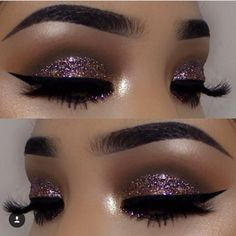 This glitter smokey cut crease is everything
