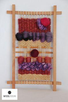 Pastel pink - Hand woven wall hanging // weaving // telar decorativo made by WooL LooM - www.facebook.com/WooLLooM