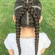 Cross the Dutch Braids New Site Black Girl Hairstyles For Kids Braids Cross Dutch Site Sporty Hairstyles, Baby Girl Hairstyles, Kids Braided Hairstyles, Hairstyles With Bangs, Hairstyle Pics, Braided Updo, Prom Hairstyles, Protective Hairstyles, Protective Styles