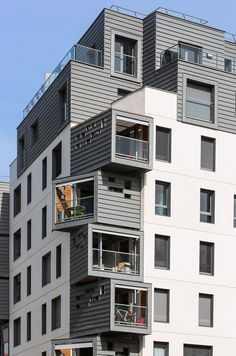 """Residential Project in Paris Introducing Distinctive Zinc """"Boxes"""" as Living Spaces"""