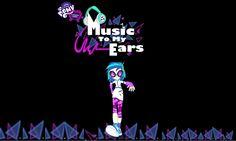 Music To My Ears Wallpaper Vinyl Scratch, Rainbow Rocks, My Little Pony Friendship, Equestria Girls, Ponies, Mlp, Ears, Cartoons, Magic