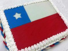 """Torta """"Bandera Chilena"""" de Pastelería dCondorelli - www.dcondorelli.cl - Santiago, Chile"""