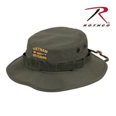 e8f09c636d3 Rothcos Vietnam Veteran Boonie Hat features a military style boonie hat  with embroidered Vietnam Veteran   Vietnam Ribbon.