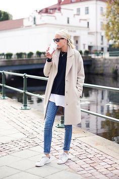 ivory, oversize, coat