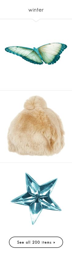 """""""winter"""" by diananicoleparsons ❤ liked on Polyvore featuring accessories, hats, beige, nude, faux fur pom pom beanie, faux fur hat, beige hat, albertus swanepoel, pom pom hat and backgrounds"""