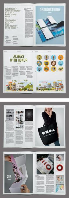 Editorial spreads from Eight:48 magazine