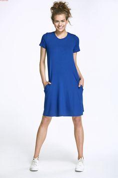 Sukienka z kokardą - niebieski