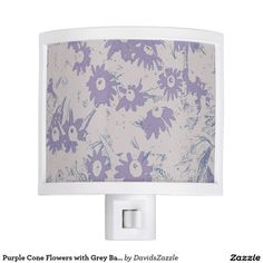 Purple Cone Flowers with Grey Background Night Light  Available on more products, type in the name of this design in the search bar on my products page to view them all!  #daisy #calendula #shasta #cone #floral #flower #purple #grey #blue #pattern #print #all #over #abstract #plant #nature #earth #life #style #lifestyle #chic #modern #contemporary #home #decor #accent #decorate