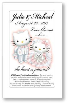 Hello Kitty Wedding Seed Packet Favors - SO CUTE!  And SUPER inexpensive!