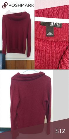 Size PL sweater by ana. Excelent condition Excellent condition. No pulls a.n.a Sweaters Cowl & Turtlenecks