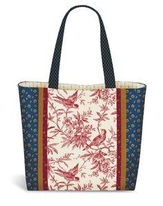 Tuscany Tote Bag Pattern by Pink Sand Beach Designs at KayeWood ...