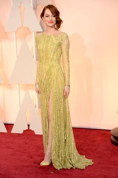 Actrices sobre la alfombra roja de los Oscar 2015: ¿Quién es la más elegante? Emma Stone