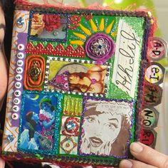 Glittericious Mixed Media Address Book by kathy cano-murillo {aka craftychica} Art Studio Storage, Artist Trading Cards, Altered Books, Fiber Art, Decoupage, Mixed Media, Collage, Art Journals, Storage Ideas