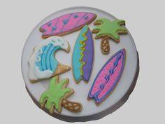 Surfboard cookies inspiration.