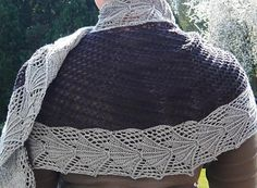 A sideways somewhat lacy shawl(ette)a sister to Galathea and AgrippinaThis is designed to make use of those single skeins of sock yarn that don't want to become socks. You'll need 2 skeins. If you have an extra luxurious squishy skein, it could get centre stage in plain stockinette, flanked perhaps by a darker border.Size: 180 cm x 55 cm (blocked, perhaps a smidgen smaller now)Knit side-to-side, borders and all (intarsia)ChartedKnit on the Baktus principle from one end to the other --...