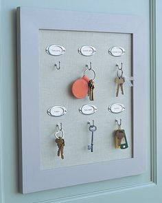 All too often, keys end up in obscure places where you can't remember having put them. Keep all your keys accessible and organized with a functional and easy-to-make rack; hang it on a wall in your kitchen, mudroom, or garage.
