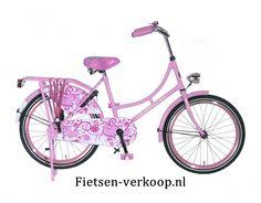 Omafiets Lichtroze 22 Inch | bestel gemakkelijk online op Fietsen-verkoop.nl