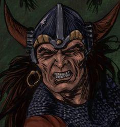 Conan in horned helmet by Doodlemark on DeviantArt