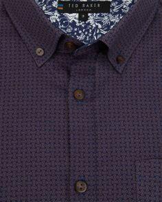 Link print shirt - Navy | Shirts | Ted Baker