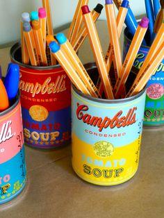 Boites de conserves recyclées à la Andy Warhol... Original!