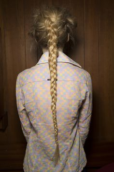 Long, thin braids at Simone Rocha Spring 2016