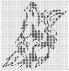 Alpha friendship bracelet pattern added by puppydog. Cross Stitch Patterns, Crochet Patterns, Tribal Wolf, Tattoo Wolf, Alpha Patterns, Friendship Bracelet Patterns, Plastic Canvas Patterns, Blackwork, Pixel Art