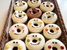A little something for the kiddos... Snowman Doughnuts! #WinterTreats