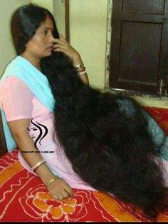 Another get her hair cut( 2 feet are feet long off) still very limited my still can braid or put in a ponytail . Open Hairstyles, Bun Hairstyles For Long Hair, Permed Hairstyles, Braids For Long Hair, Really Long Hair, Super Long Hair, Indian Hair Cuts, Beautiful Long Hair, Amazing Hair