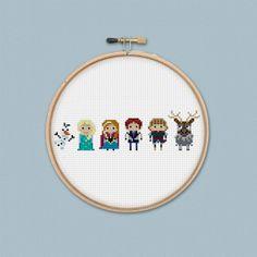 Disney Princess: Frozen Cross Stitch Pattern PDF Instant Download on Etsy, 14.41₪