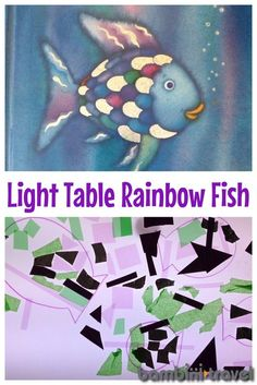 Learning to Share with Rainbow Fish Preschool Summer Camp, Toddler Preschool, Toddler Crafts, Preschool Crafts, Rainbow Fish Activities, Sensory Activities, Book Activities, Toddler Art Projects, Projects For Kids