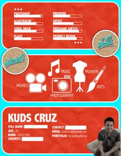 Creative Resume / CV by Kuds Cruz, via Behance