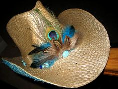 CoWgiRL--CoWbOy HaT--TuRqUoIsE & FeAtHeRs--PeAcOcK--CoUnTrY MuSiC RoCk StAr    by DesignsBySuZyT on Etsy, $59.95