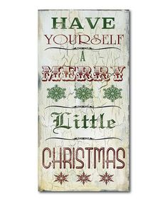 Look what I found on #zulily! 'A Merry Little Christmas' Wrapped Canvas #zulilyfinds