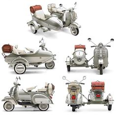 Vespa sidecars                                                                                                                                                                                 More