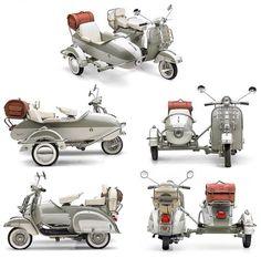 Vespa sidecars                                                                                                                                                                                 More