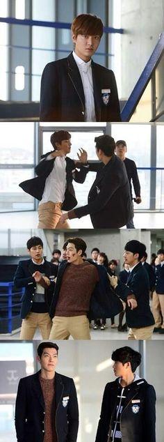 Young do (kim wo bin) and kim tan (lee min ho)