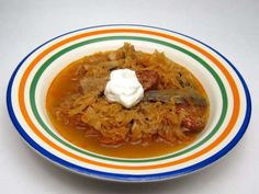 Kapustnica • Recept | svetvomne.sk Sauerkraut, Polish Recipes, Polish Food, Thai Red Curry, Ethnic Recipes, Rice, Meat, Red Bell Peppers, Healthy Dishes