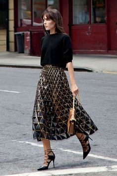 pair it with jeans, or even a metallic skirt.. you can really wear it with EVERYTHING