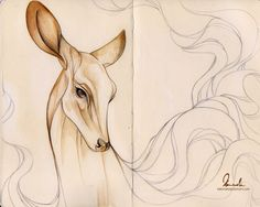 Dreamy Doe by kleinmeli.deviantart.com on @deviantART