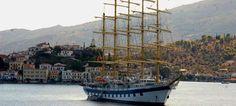 To Royal Clipper στον Πόρο - Το Ιστιοφόρο με τα Πέντε Κατάρτια στην Ελλάδα (Φωτό) Royal Clipper, Travel News, Dream Vacations, Sailing Ships, My Dream, Boat, Dinghy, Boats, Tall Ships