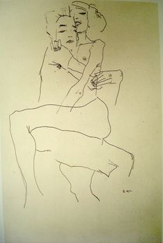 Egon Schiele - Embracing Couple    1911