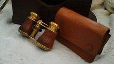 Vintage Brass and Leather Opera Glasses | eBay