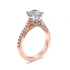 Engagement ring #LC5447RG - Rose Gold Collection - Coast Diamond Bridal Engagement Ring Collections